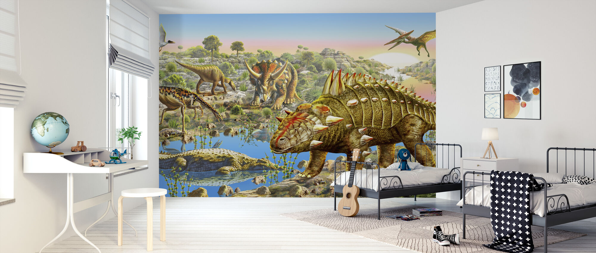 Dinosauruksen laakso Panorama - Tapetti - Lastenhuone