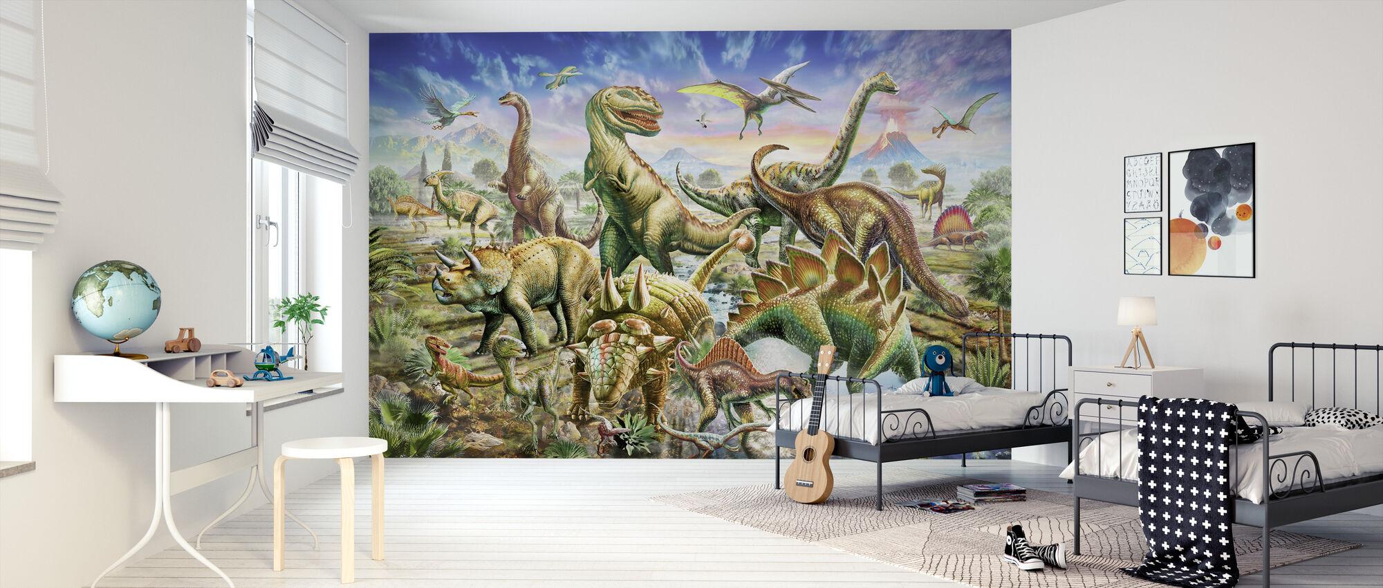 Dinoscene - Tapetti - Lastenhuone