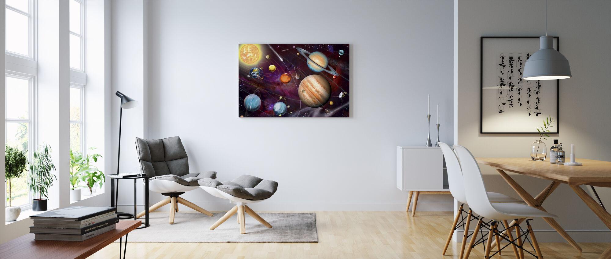 Solsystem 2 - Canvastavla - Vardagsrum