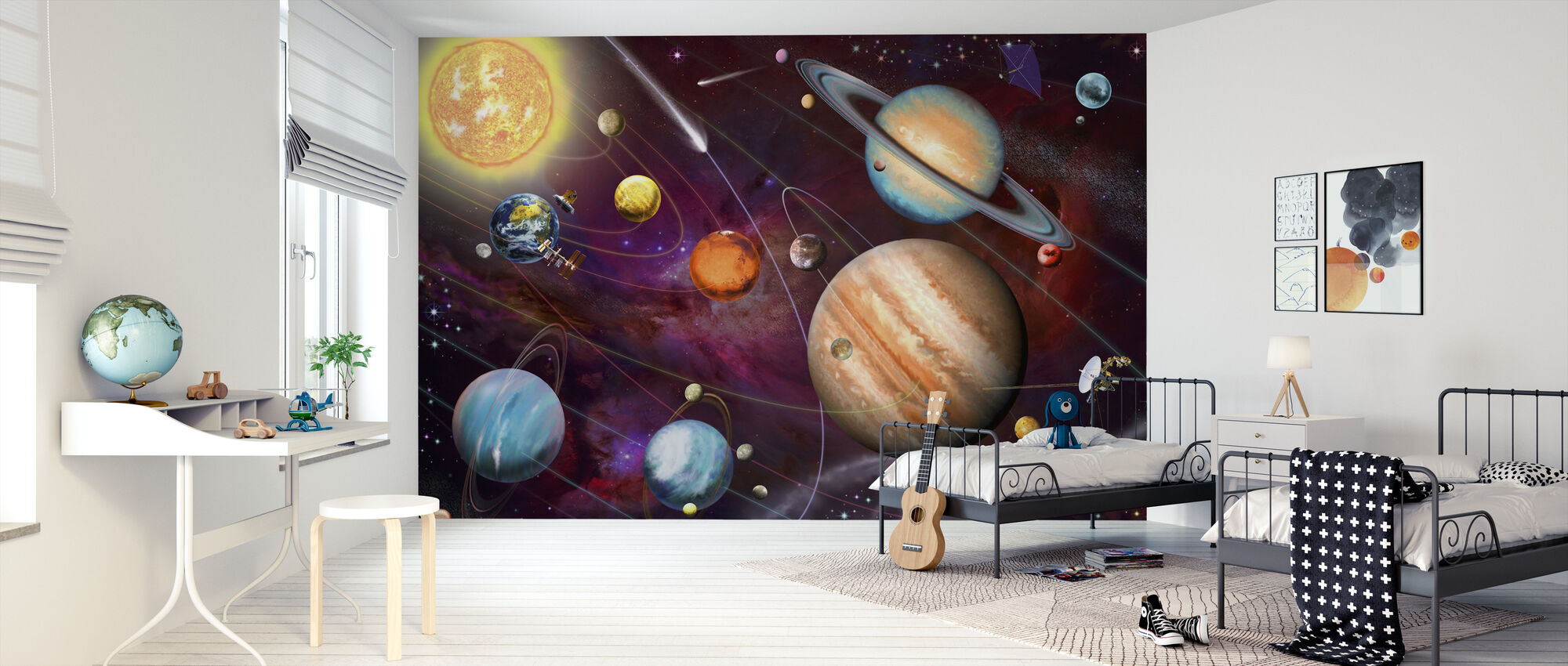 Solar System 2 - Wallpaper - Kids Room