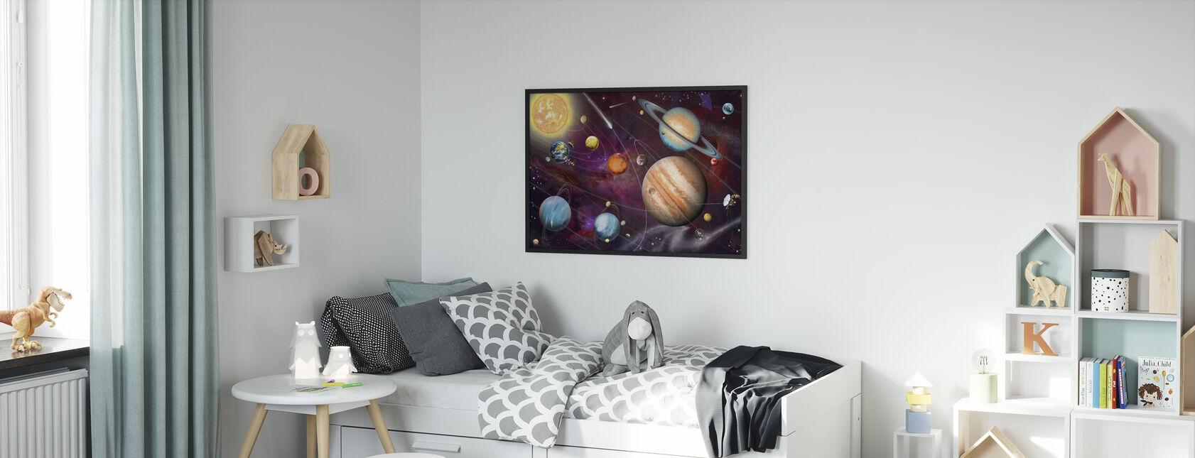 Solsystem 2 - Innrammet bilde - Barnerom