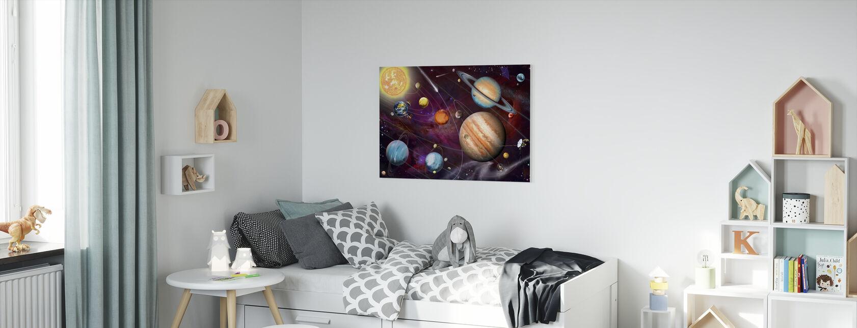 Solsystem 2 - Canvastavla - Barnrum