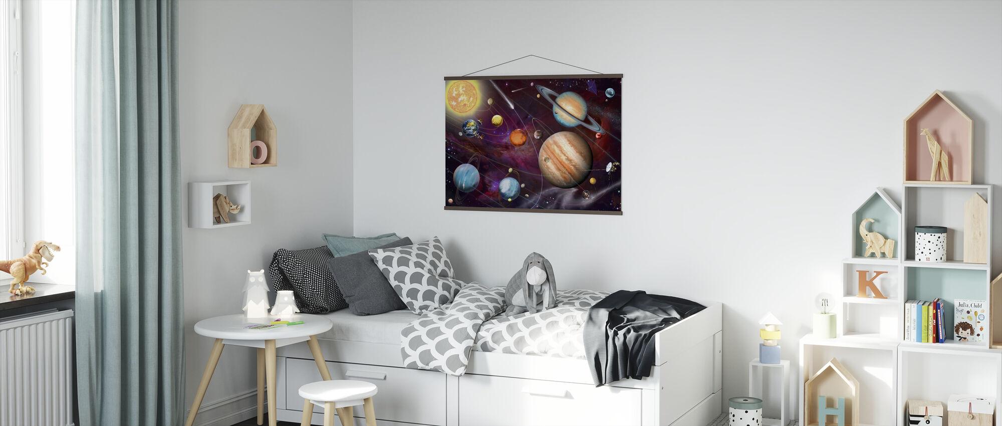 Solsystem 2 - Plakat - Barnerom