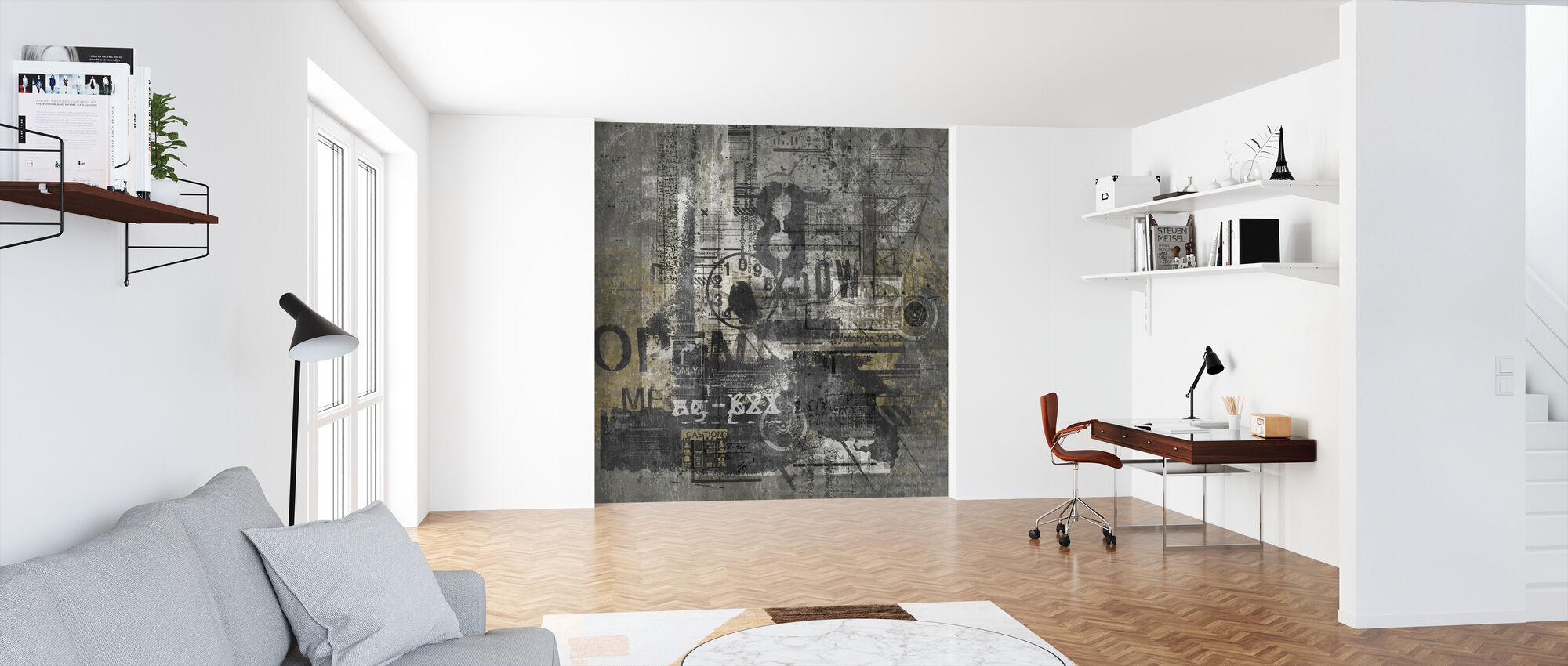 Grunge abstracto - Papel pintado - Oficina