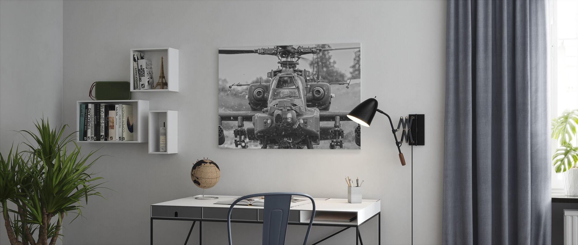 Apache Helikopter - Canvastavla - Kontor