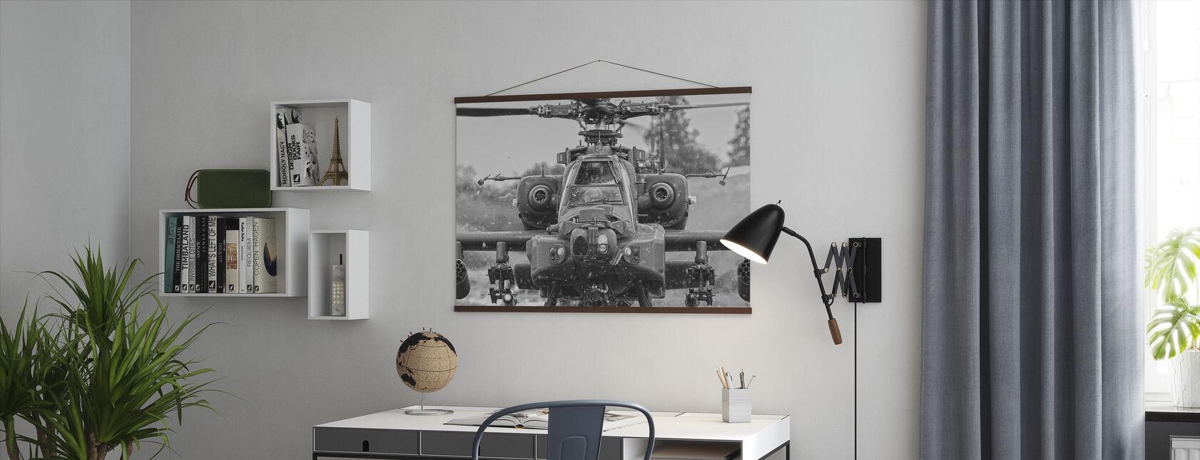 Apache Hubschrauber - Poster - Büro