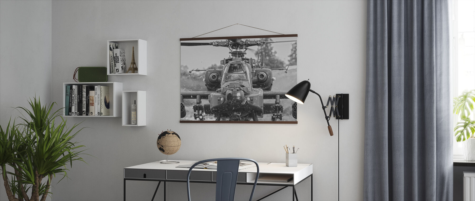 Apache Helicopter - Poster - Office