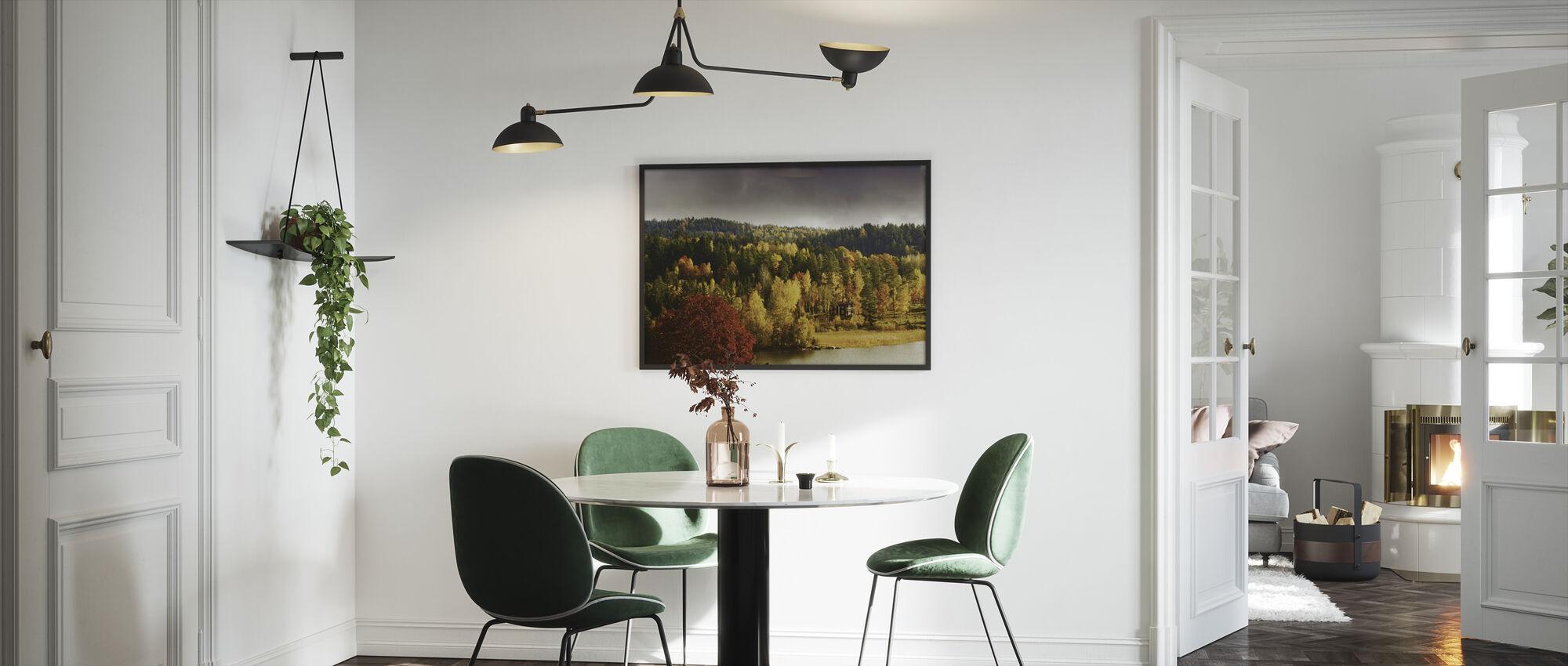Autumn colored Landscape in Sweden - Framed print - Kitchen