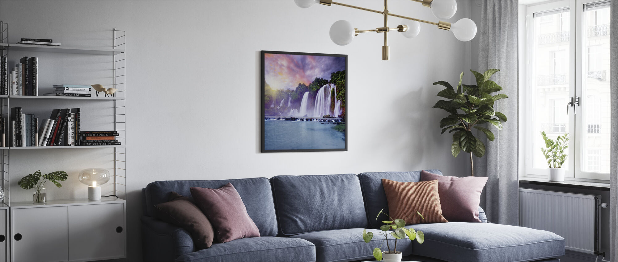 Banyue Waterfall - Framed print - Living Room