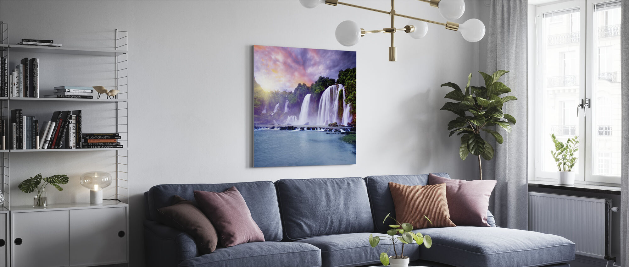Banyue Waterfall - Canvas print - Living Room