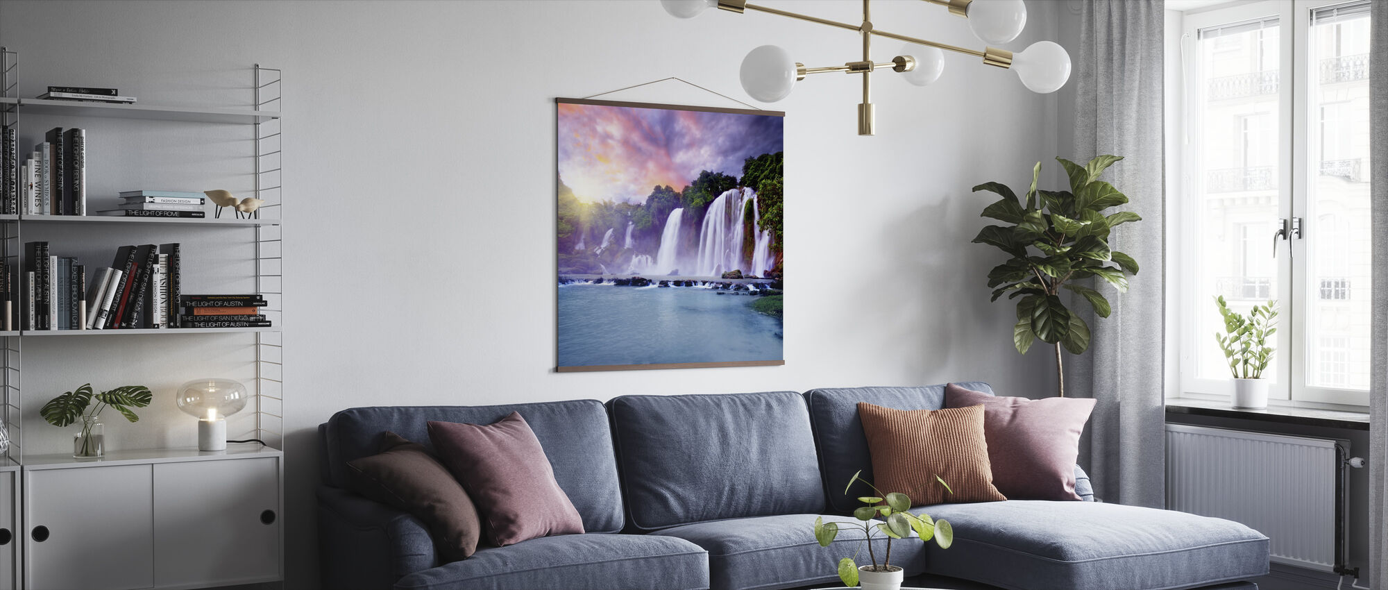 Banyue Waterfall - Poster - Living Room
