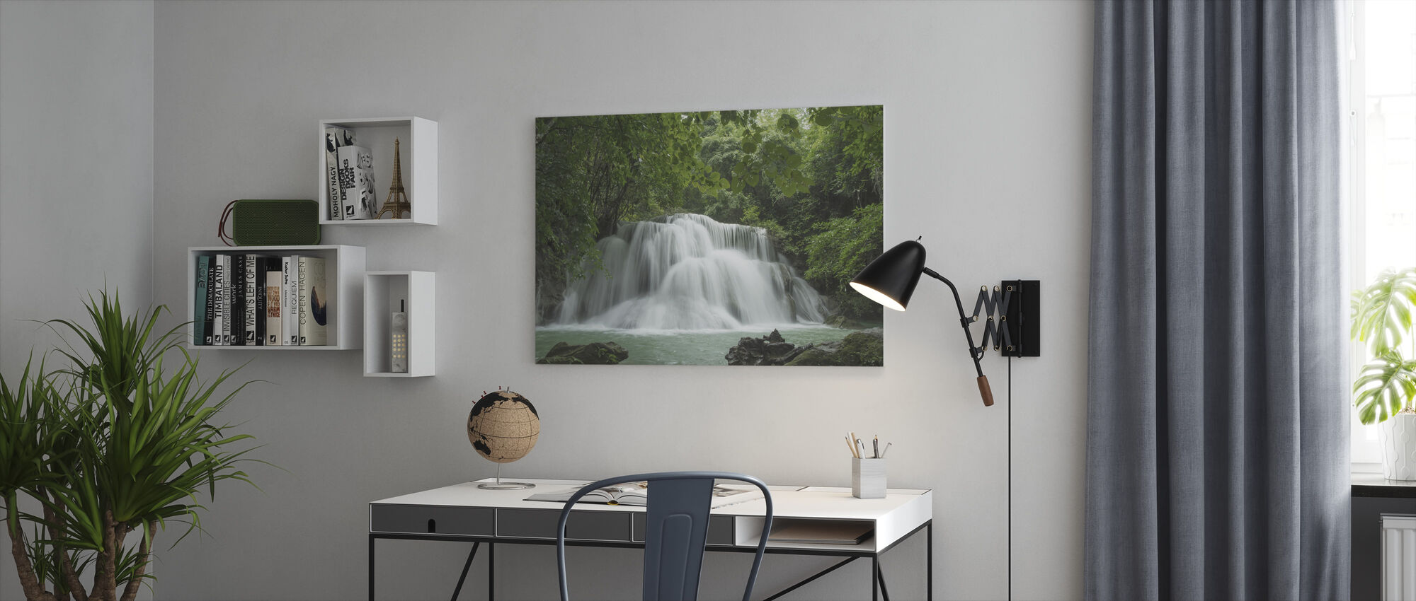 Beautiful Waterfall in Thailand - Canvas print - Office