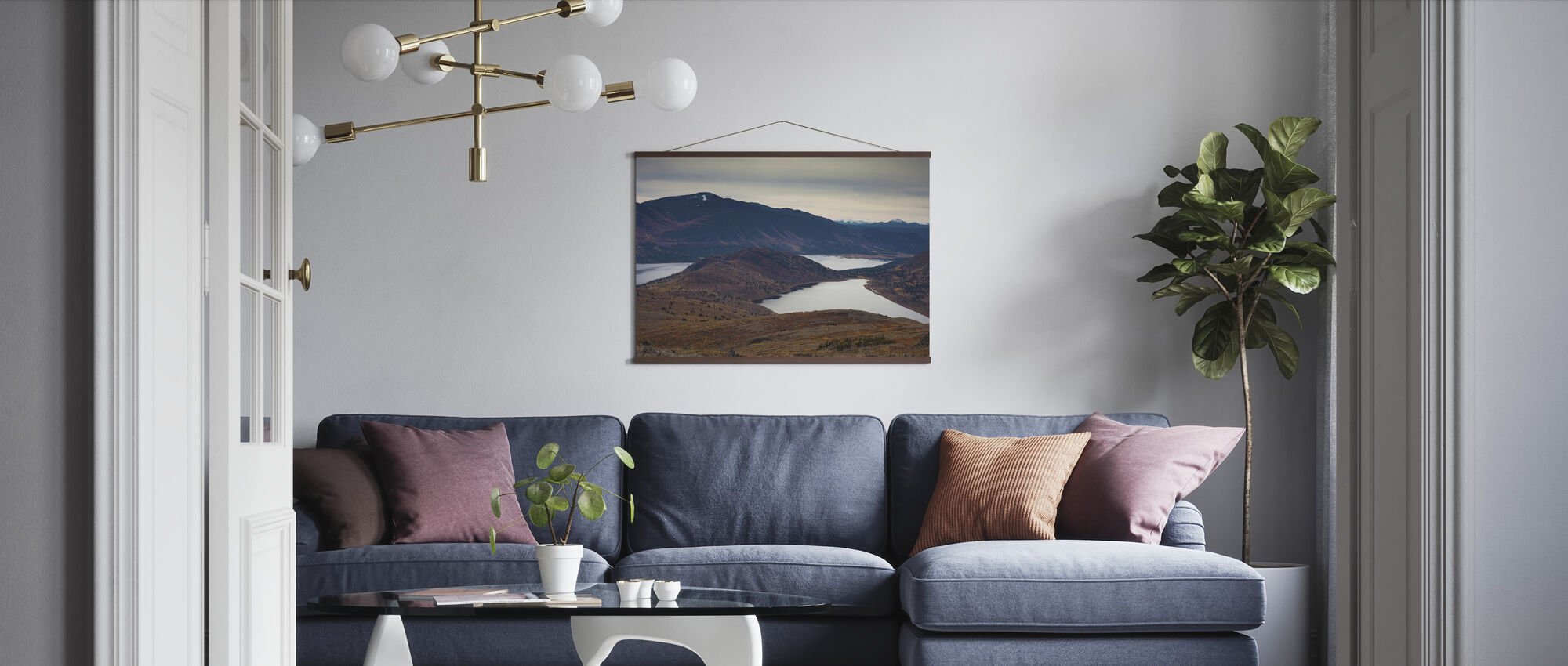 Autumn Colored Mountain Lakes Landscape - Poster - Living Room