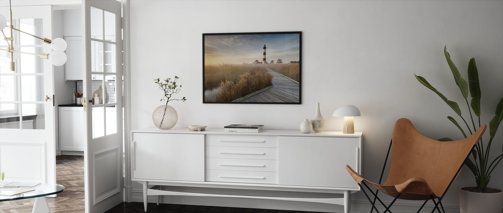 Lighthouse in North Carolina - Framed print - Living Room