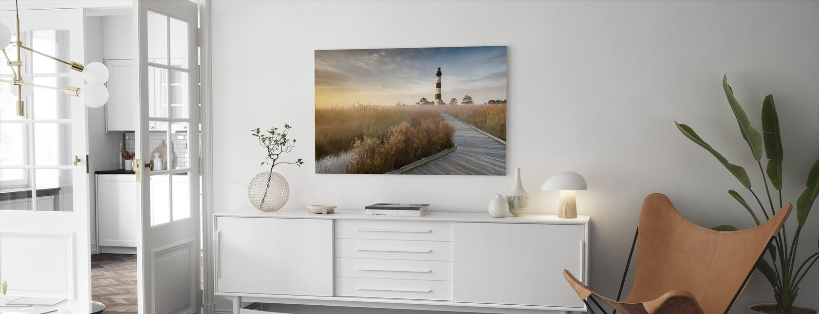 Lighthouse in North Carolina - Canvas print - Living Room