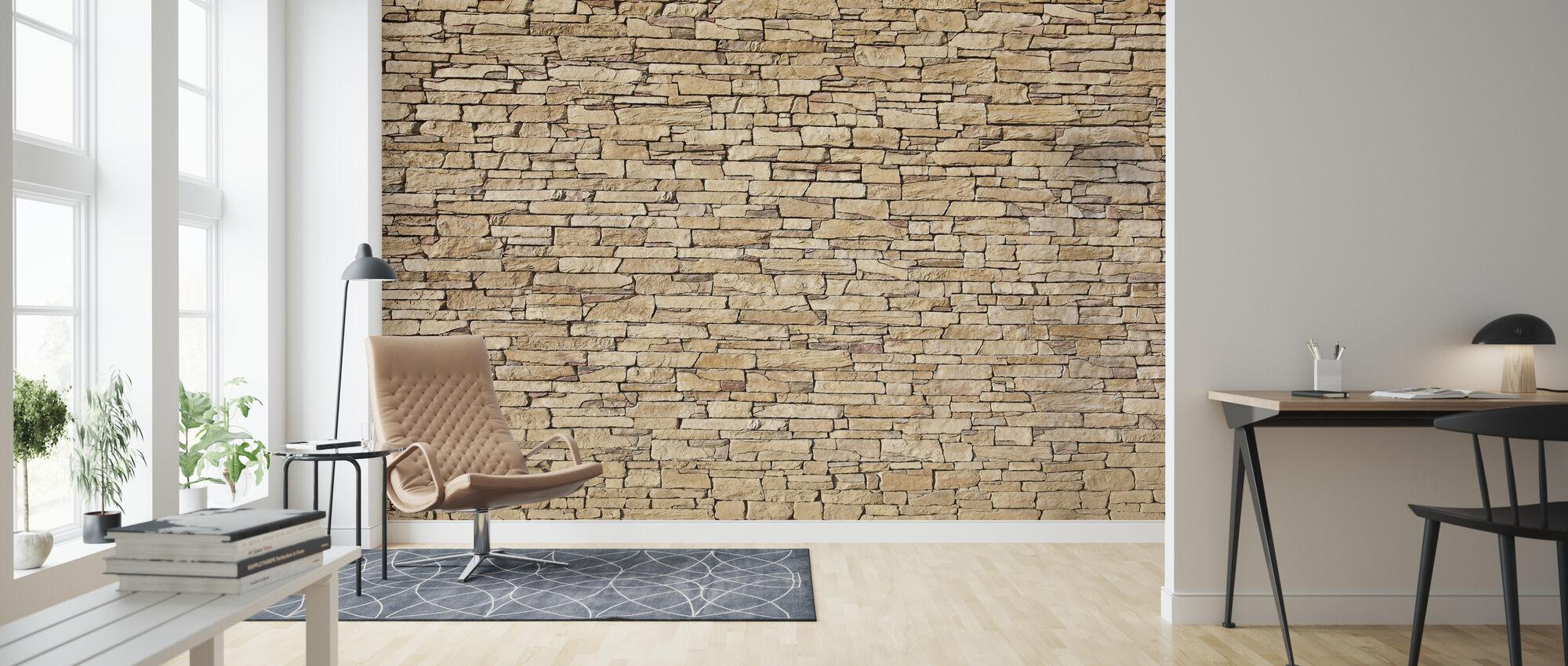 Limestone - Wallpaper - Living Room