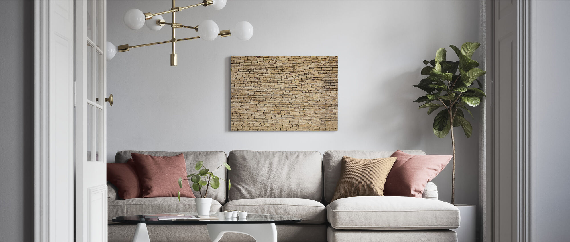 Limestone - Canvas print - Living Room
