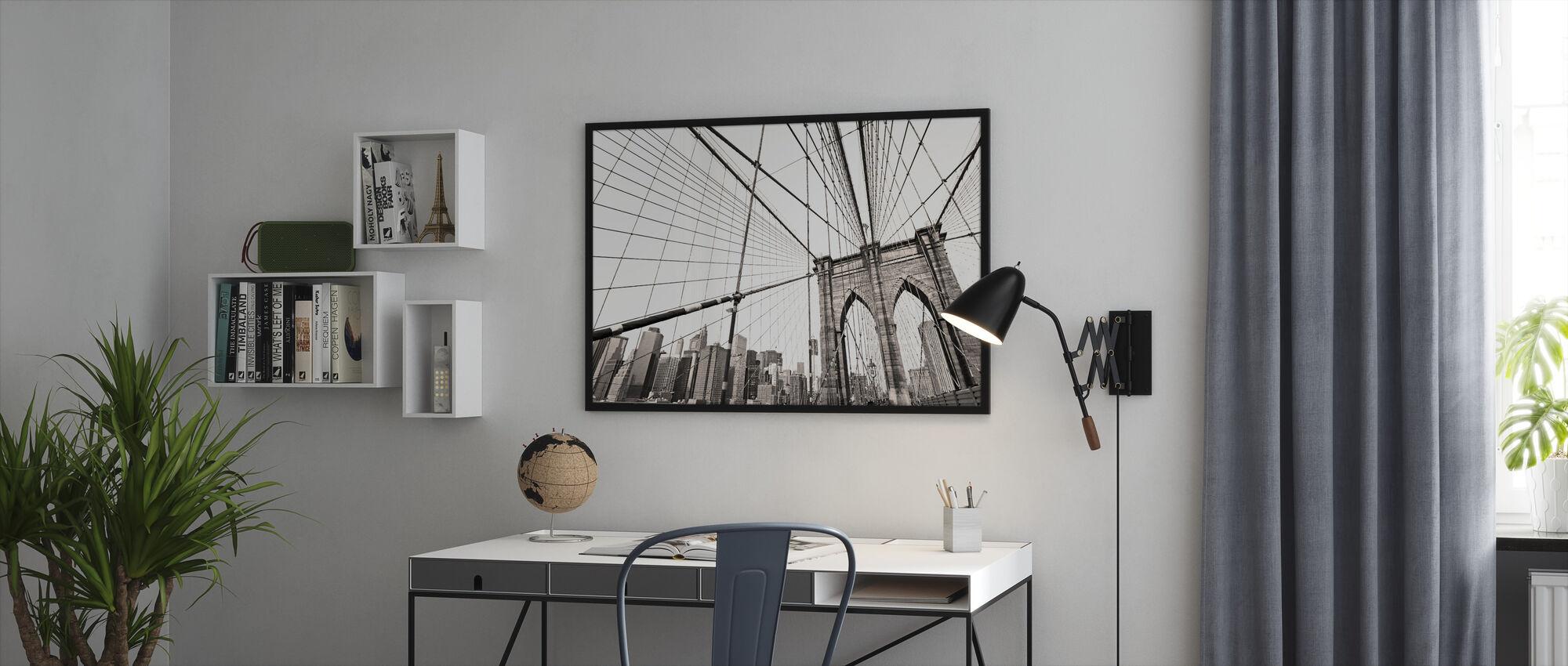 Manhattan Bridge New York - Framed print - Office