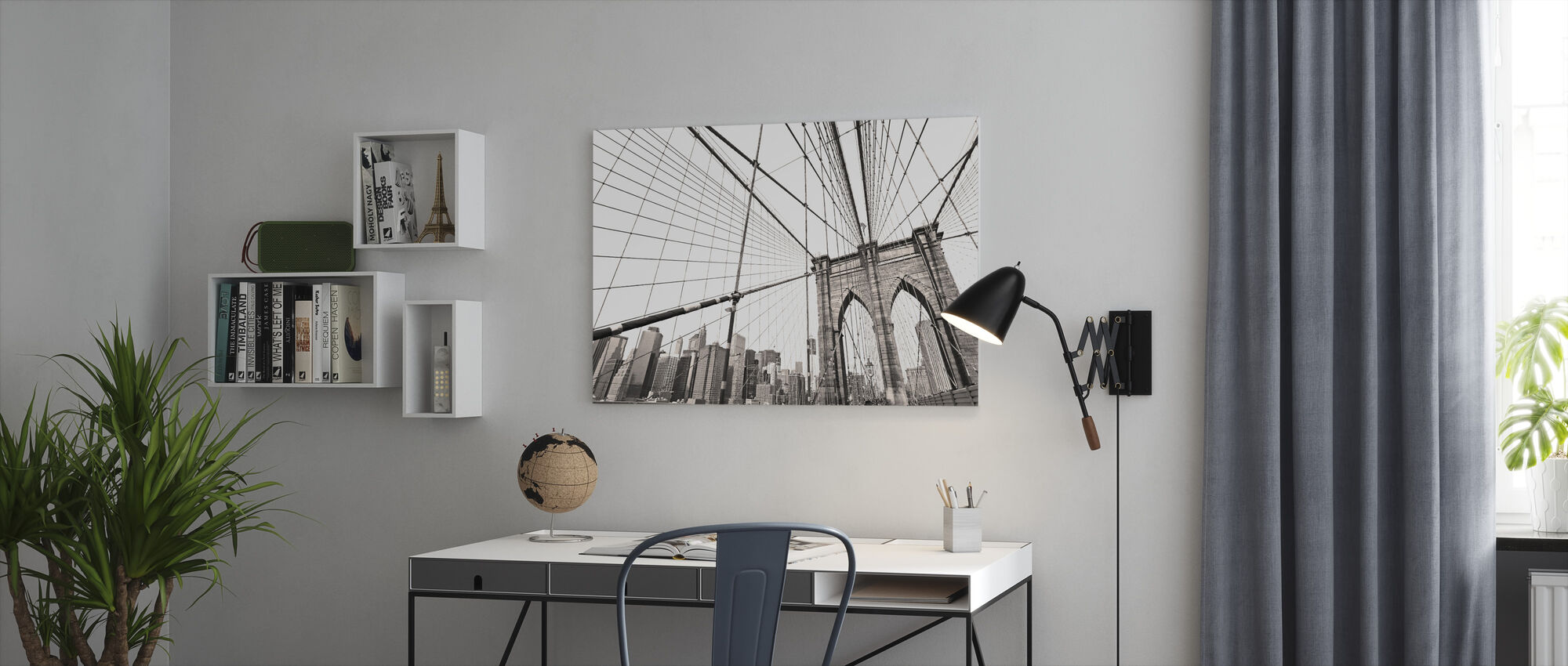 Manhattan Bridge New York - Canvas print - Office