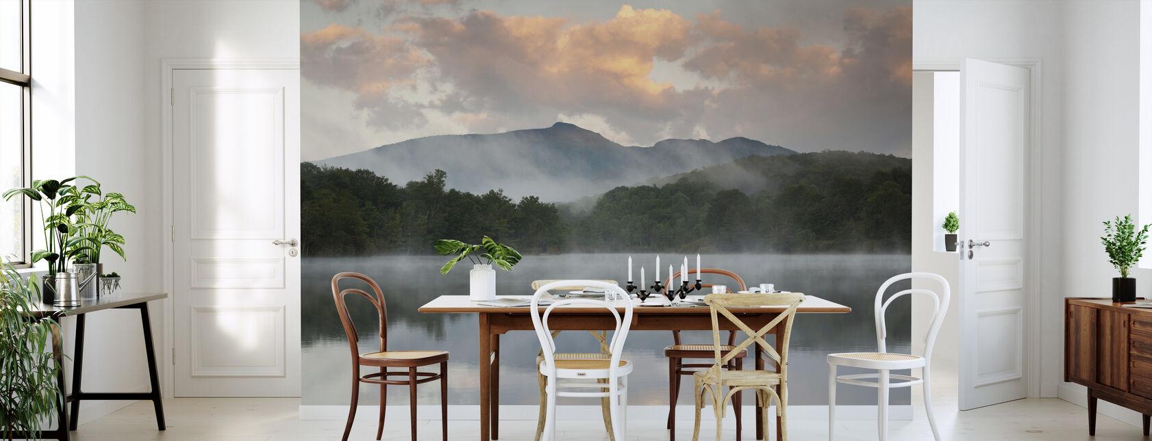 Mountain Lake Reflection of Blue Ridge - Wallpaper - Kitchen
