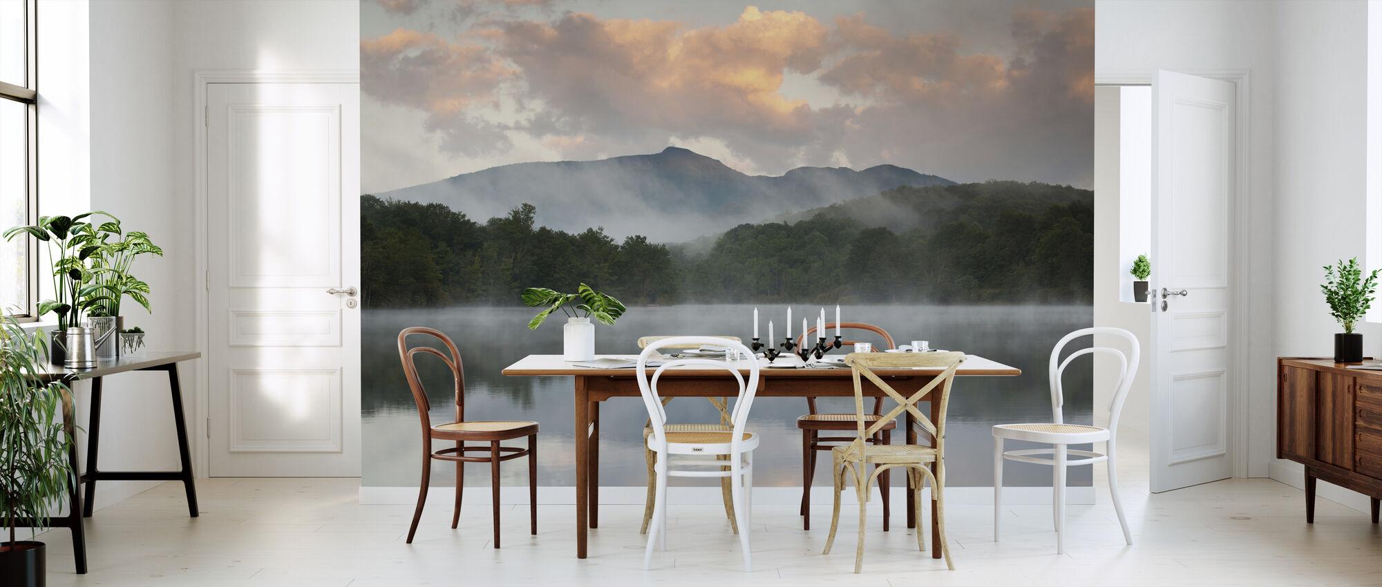 Mountain Lake Reflectie van Blue Ridge - Behang - Keuken