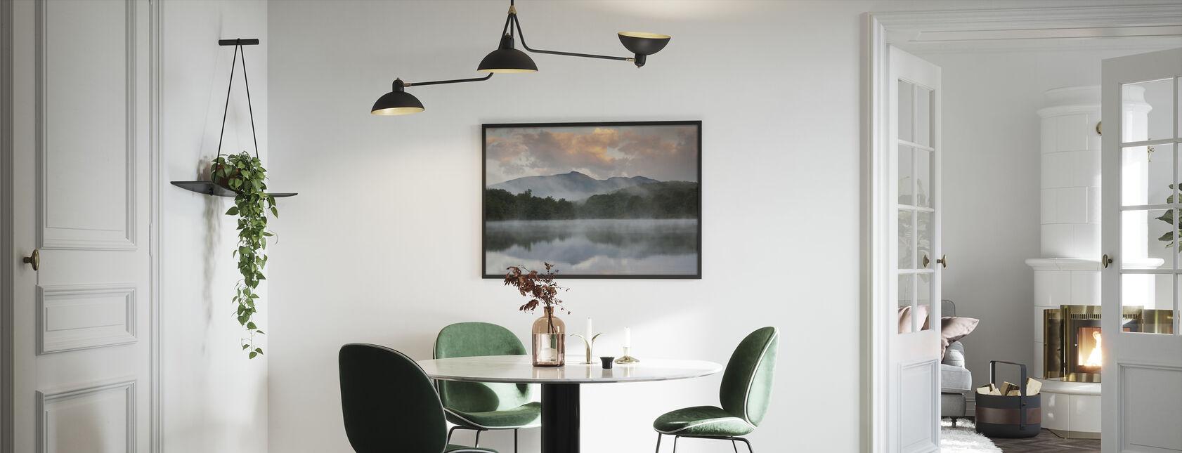 Mountain Lake Reflection of Blue Ridge - Framed print - Kitchen