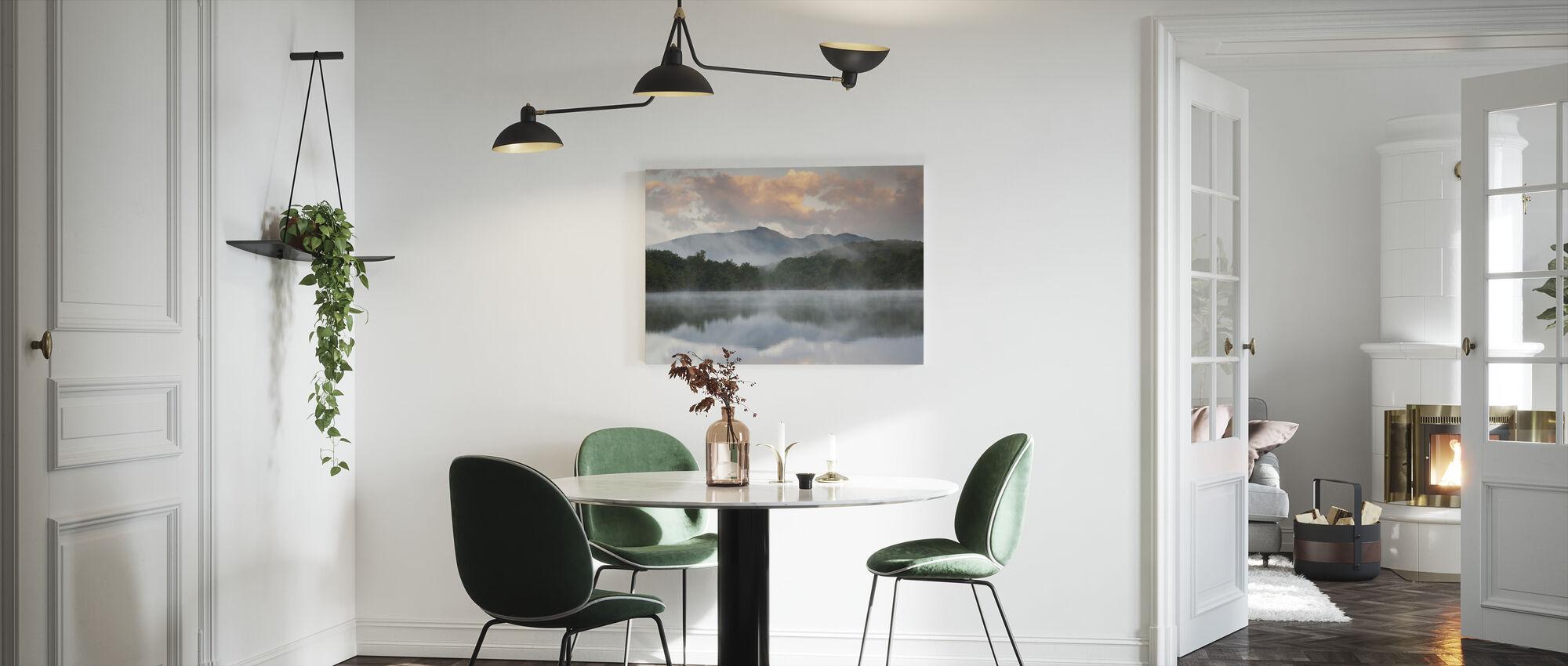 Mountain Lake Reflection of Blue Ridge - Canvas print - Kitchen