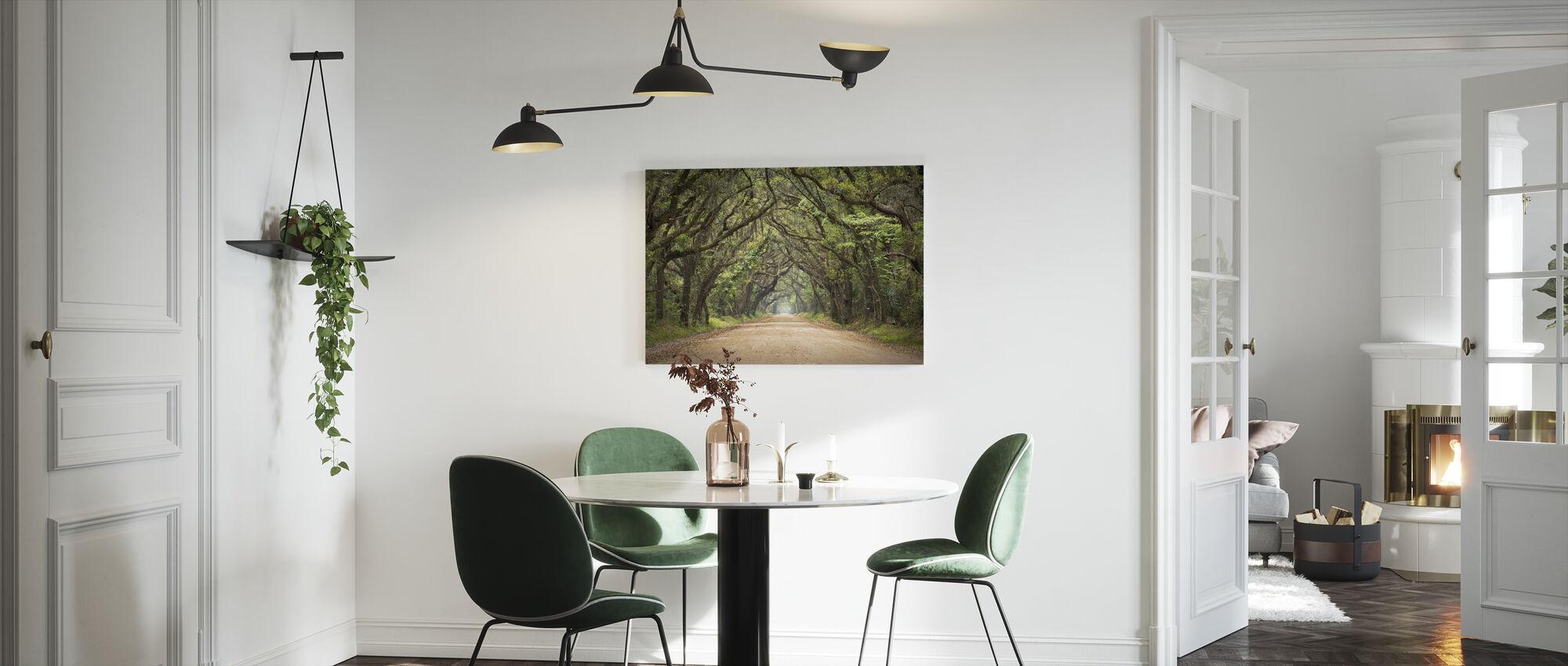 Egetræ vej - Billede på lærred - Køkken