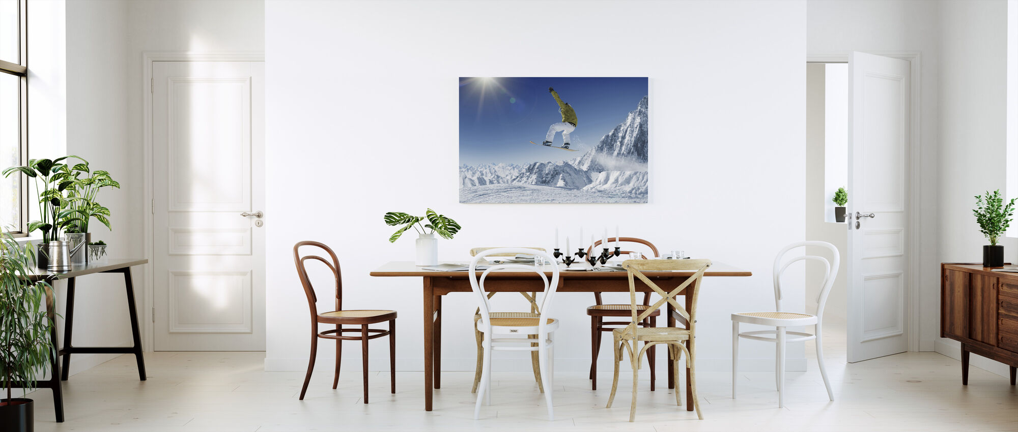 Skier in the high Mountains - Canvas print - Kitchen