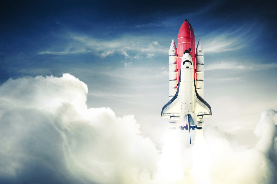 Space Shuttle Decorate With A Wall Mural Photowall