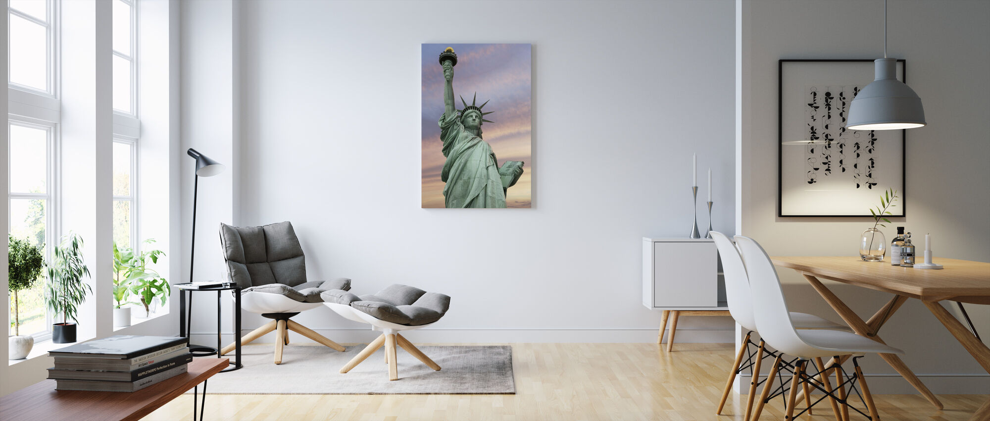 Statue of Liberty under a vivid sky - Canvas print - Living Room