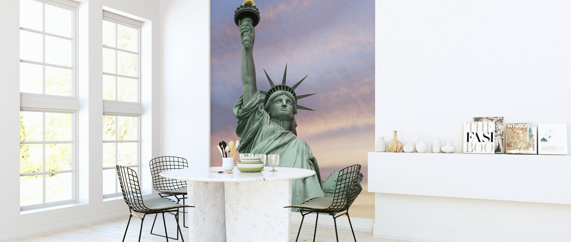 Statue of Liberty under a vivid sky - Wallpaper - Kitchen