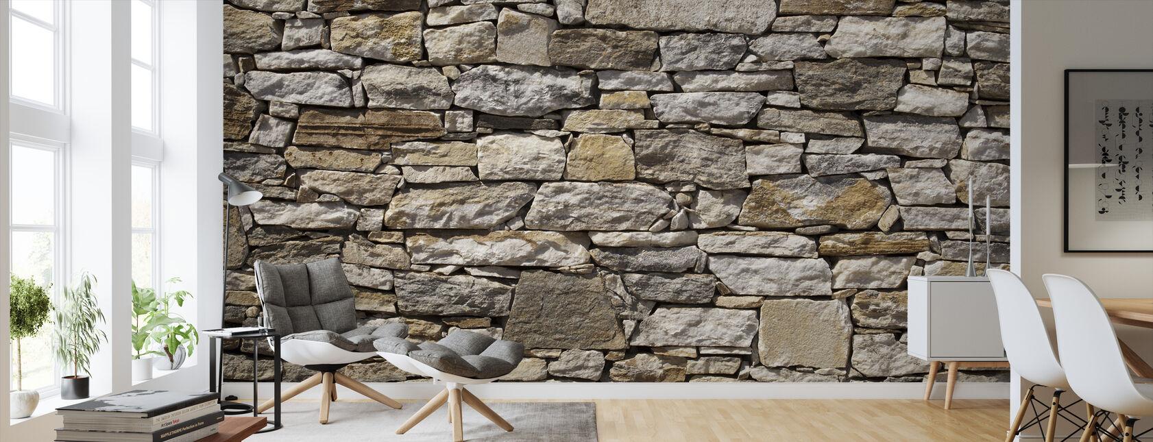 Stenmur bakgrund - Tapet - Vardagsrum