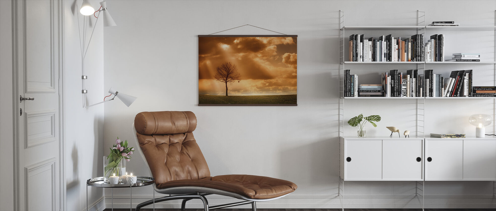 Orange Tree in field - Poster - Living Room