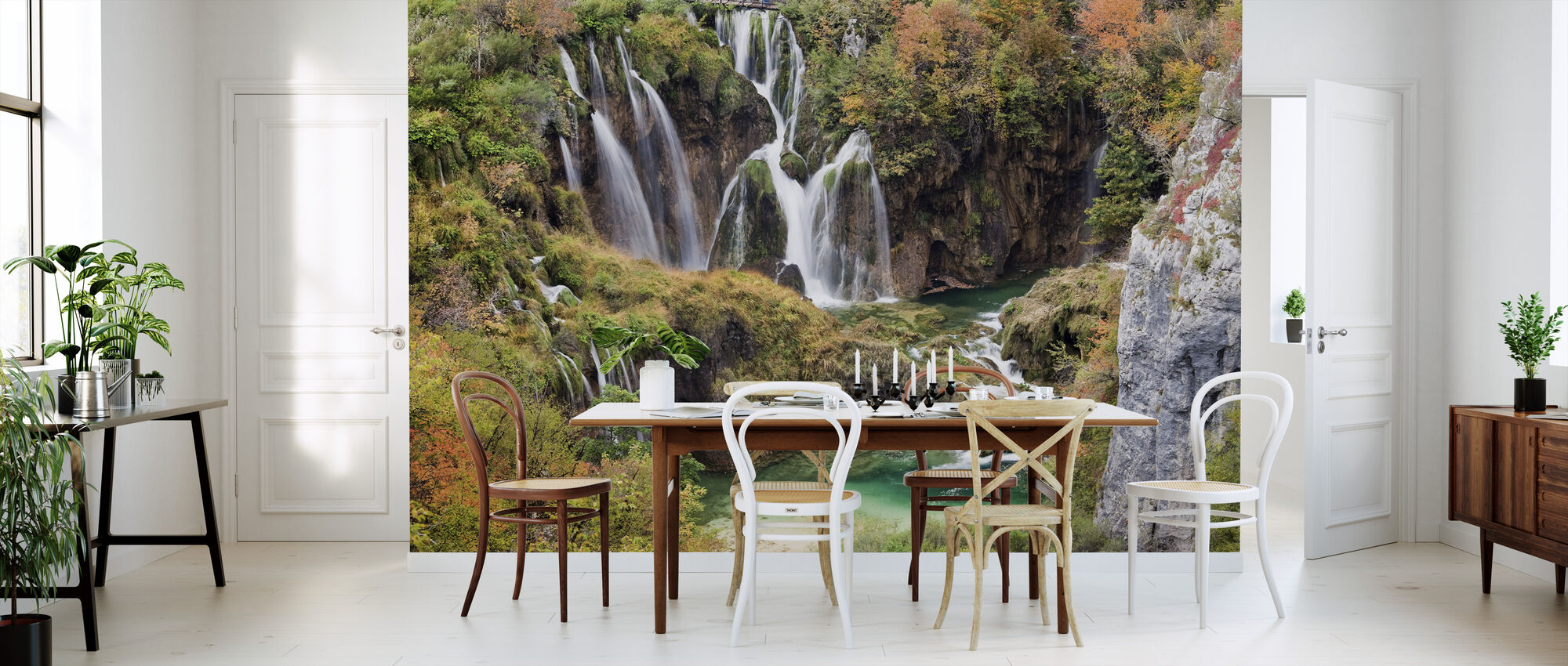 Waterfalls in Autumn Scenery - Wallpaper - Kitchen