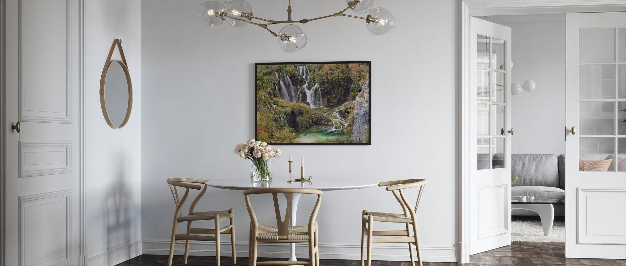 Waterfalls in Autumn Scenery - Framed print - Kitchen