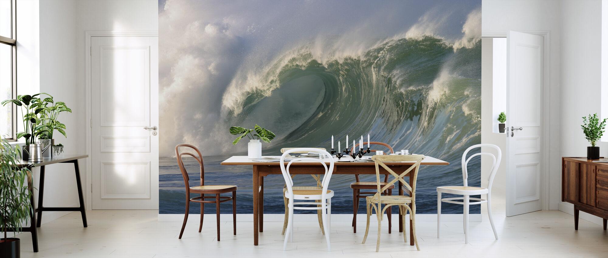 Wave breaking at Waimea Bay - Wallpaper - Kitchen
