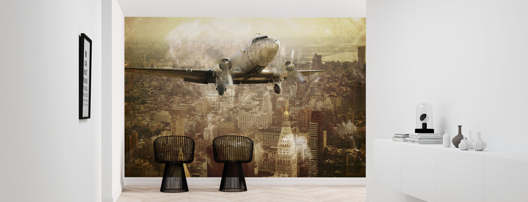 Vintage Flight - Wallpaper - Hallway