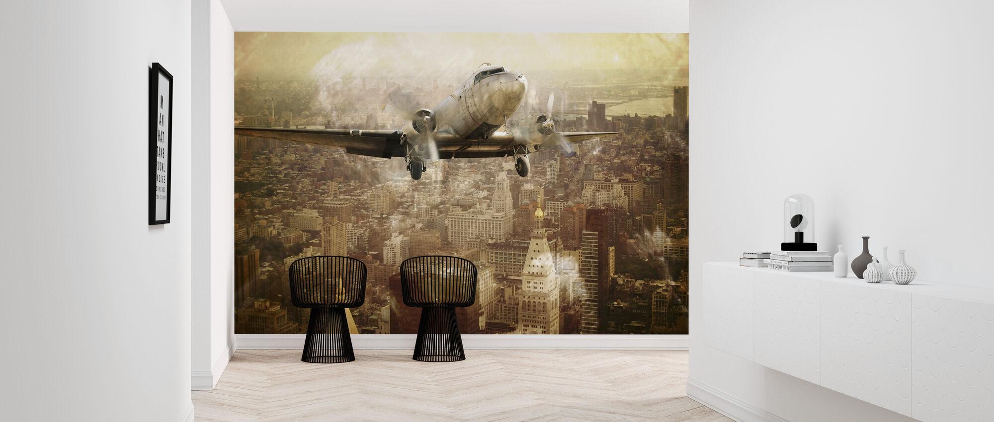 Vintage Flight - Wallpaper - Hallway