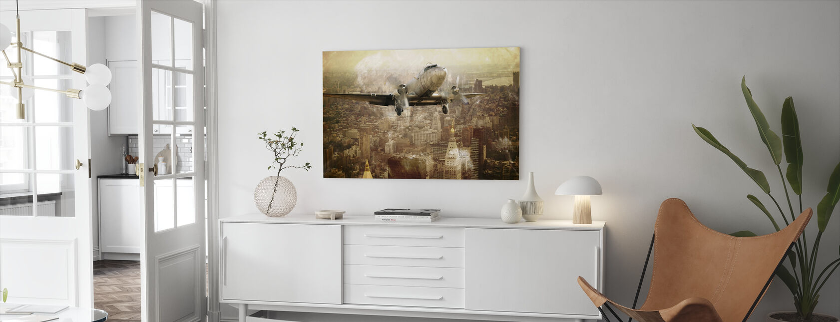 Vintage Flight - Canvas print - Living Room