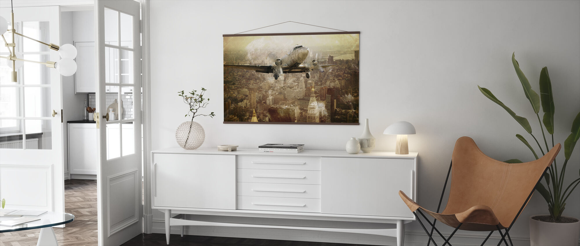 Vintage Flight - Poster - Living Room