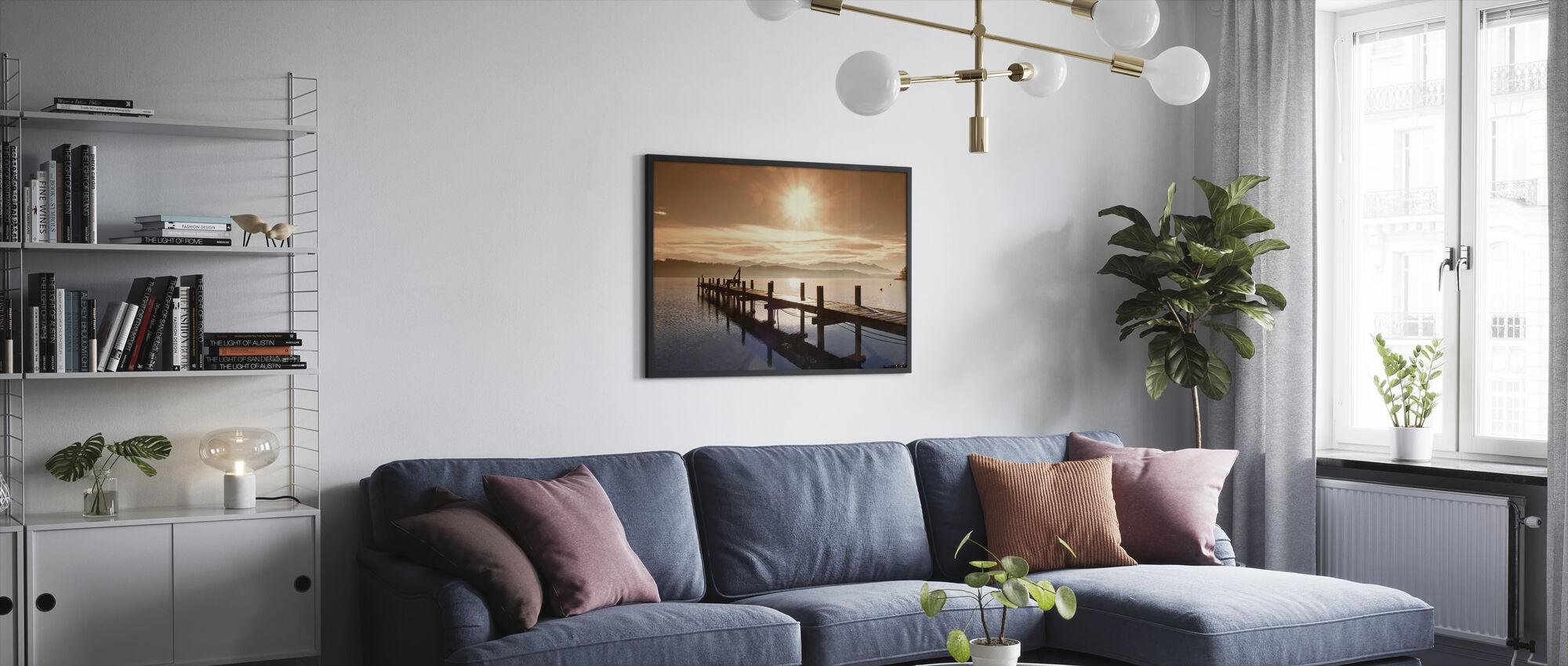 Wooden Jetty - Framed print - Living Room