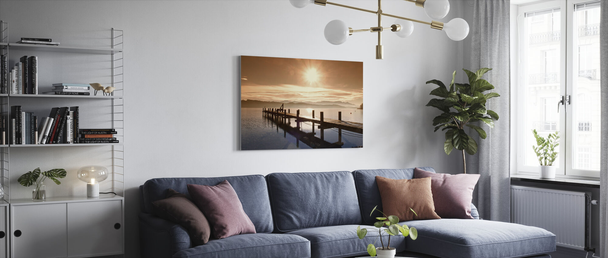Wooden Jetty - Canvas print - Living Room
