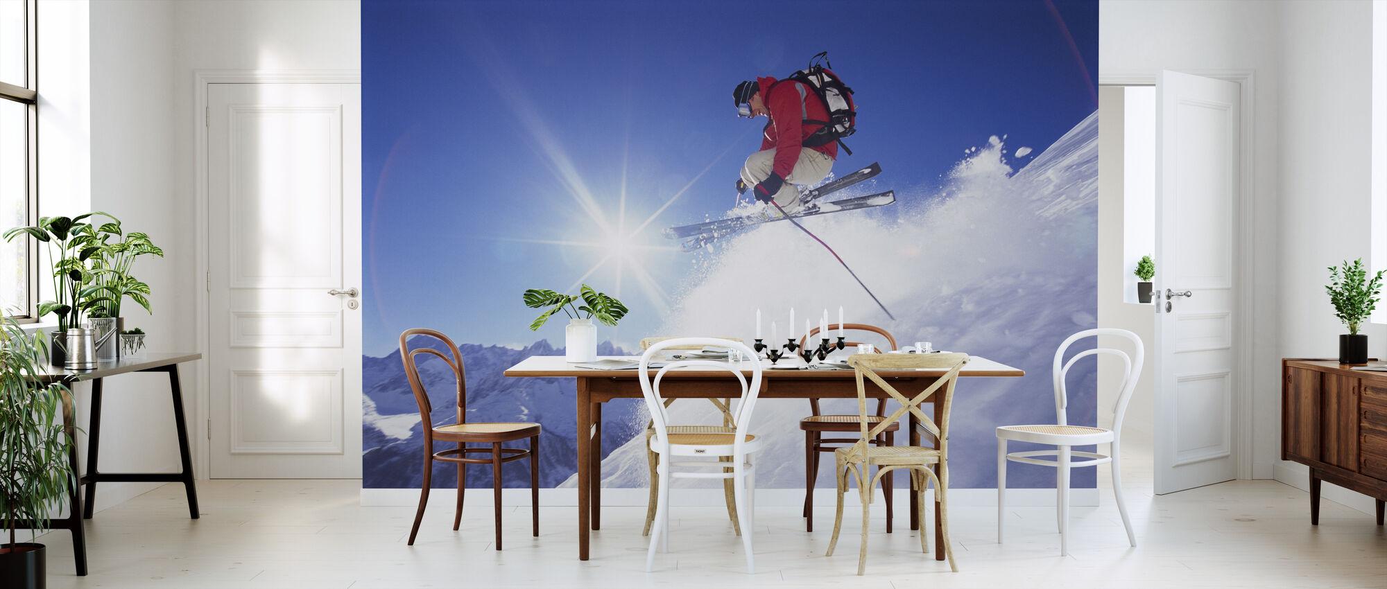 Esquí Adrenalina - Papel pintado - Cocina