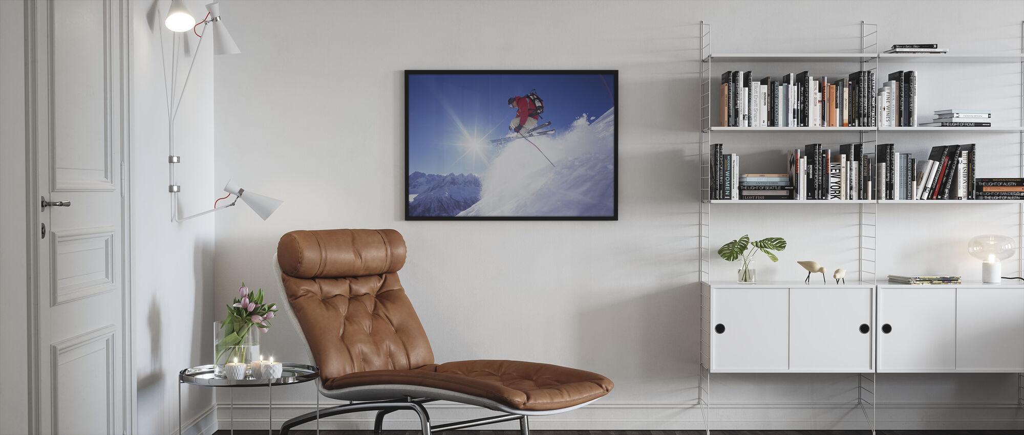 Adrenaline Skiën - Ingelijste print - Woonkamer