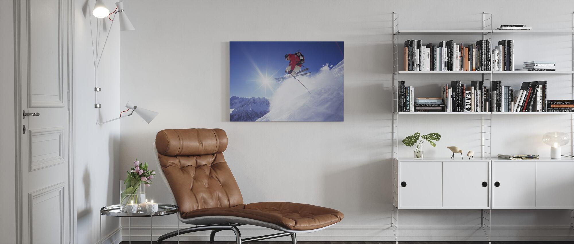 Adrenaline Skiën - Canvas print - Woonkamer