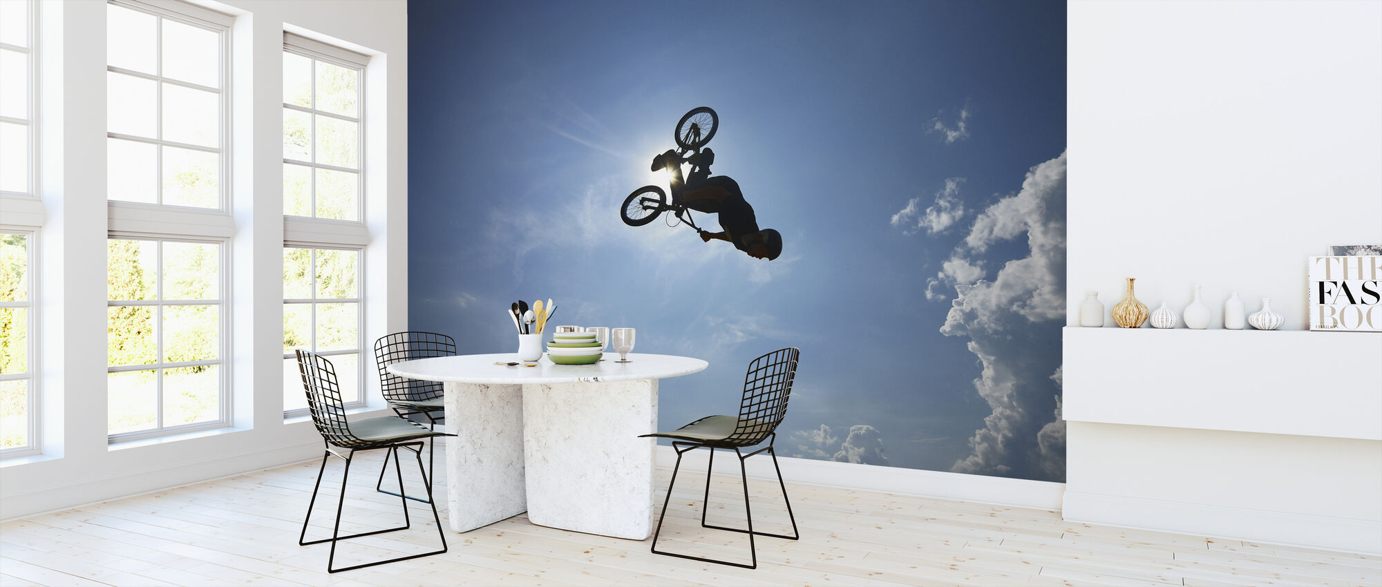 BMX Backflip - Behang - Keuken