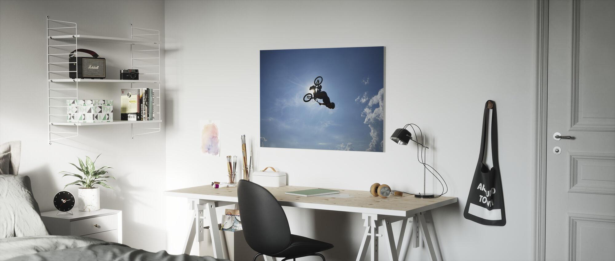 BMX Backflip - Canvas print - Kinderkamer