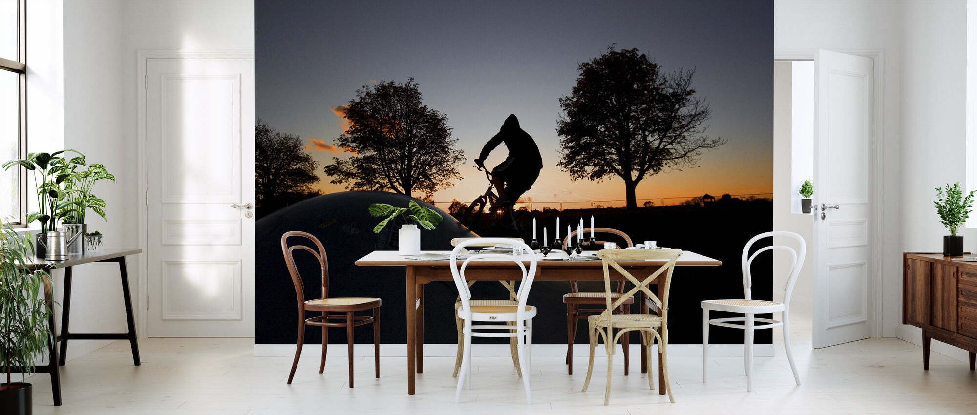 BMX Biking at Sunset - Wallpaper - Kitchen