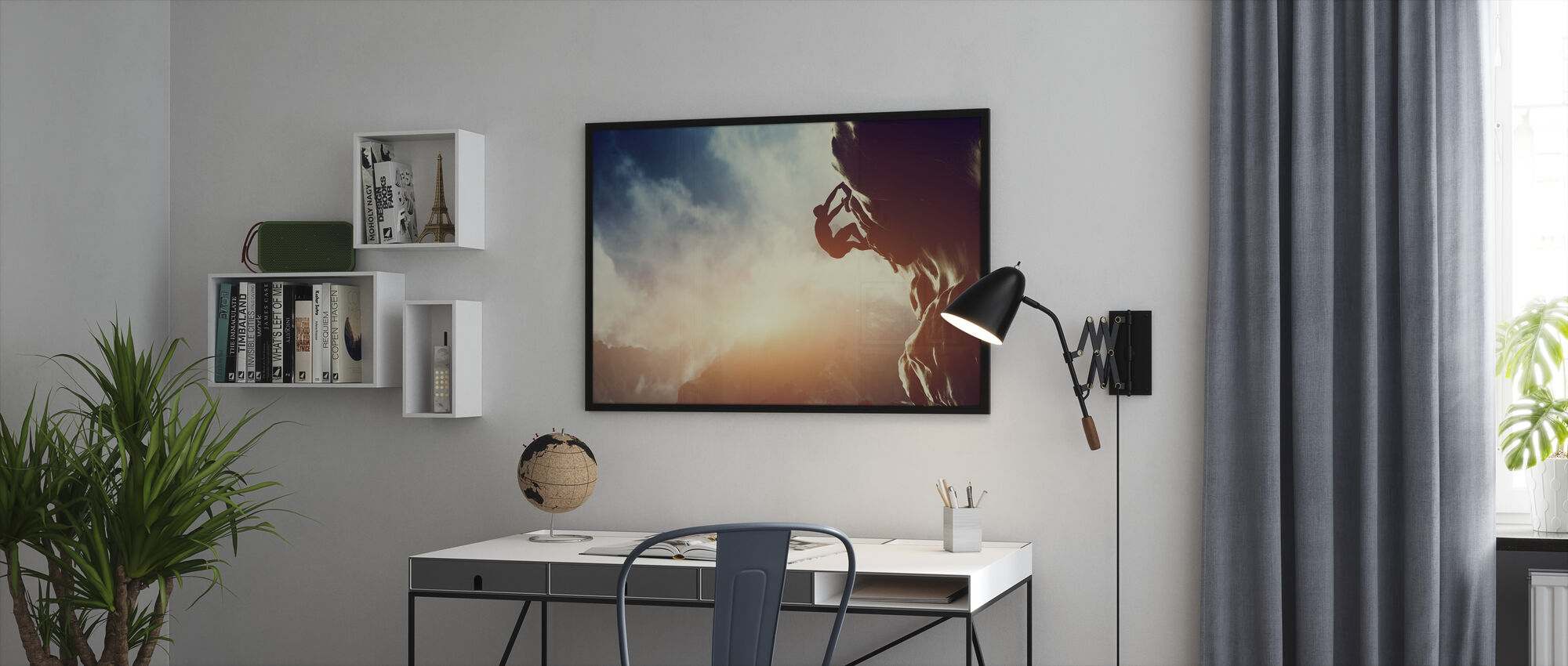 Climbing - Framed print - Office